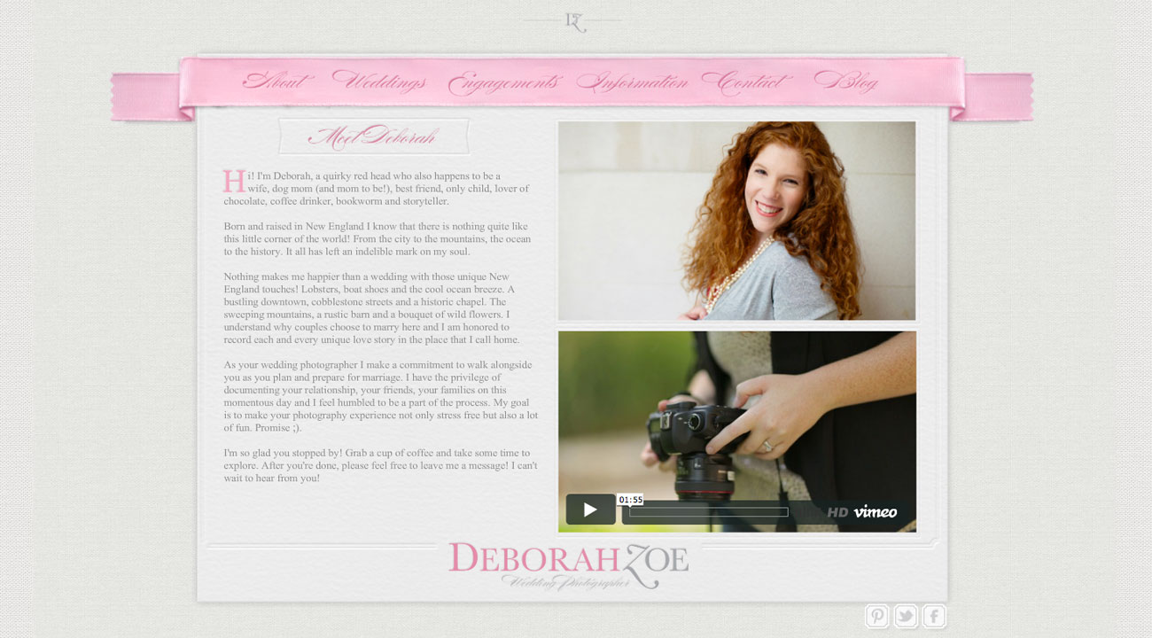 Deborah Zoe Website About