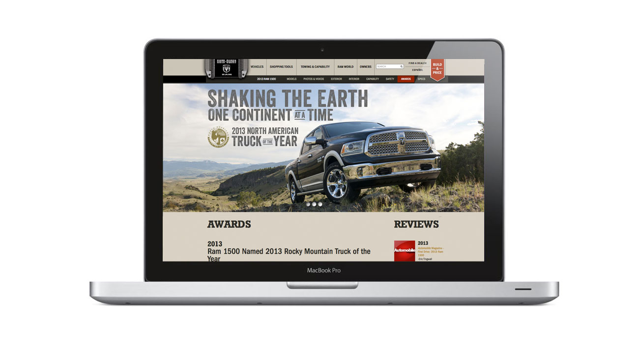 Ram Trucks Awards Page