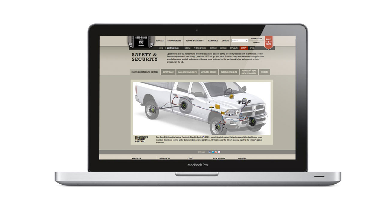 Ram Trucks Security Page